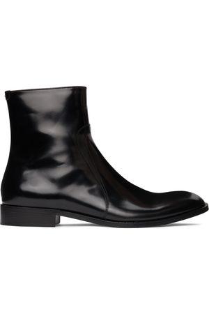 Maison Margiela Men Boots - Black Polished Zip Boots