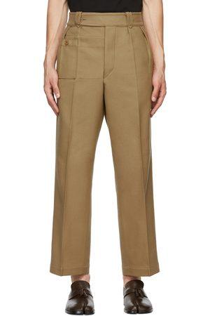 Maison Margiela Beige Wool Pleated Trousers