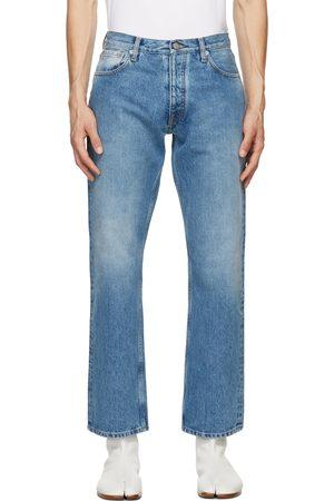 Maison Margiela Men Straight - Blue Straight-Leg Jeans