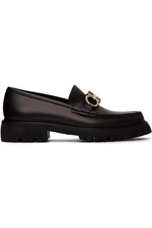 Salvatore Ferragamo Men Loafers - Black Gancini Bleecker Loafers