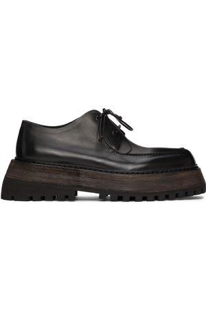 MARSÈLL Men Formal Shoes - Black Quadrarmato Derbys