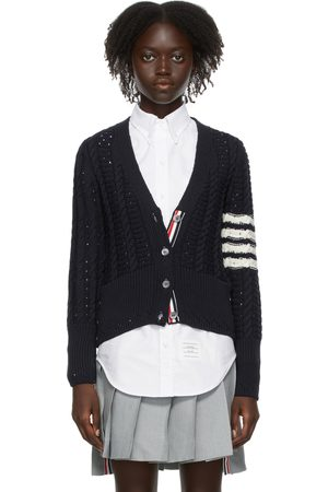 Thom Browne Cable Classic-Fit 4-Bar Cardigan
