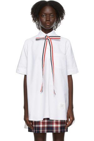 Thom Browne Bow Tie Short Sleeve Shirt