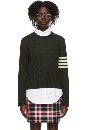 Thom Browne Green 4-Bar Shetland Crewneck Sweater