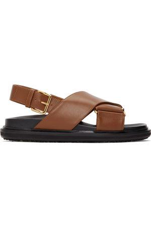 Marni Women Sandals - Black & Brown Fussbett Sandals
