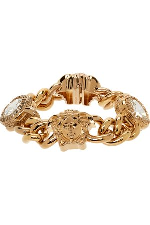 VERSACE Women Bracelets - Gold Medusa & Crystal Bracelet