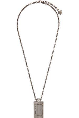 VERSACE Men Necklaces - Gunmetal Tag Necklace