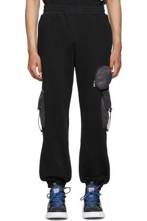 McQ Men Cargo Pants - Black Nylon Overlay Cargo Pants