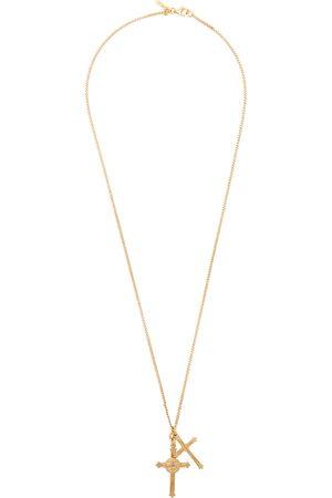 EMANUELE BICOCCHI Men Necklaces - Double Cross Necklace