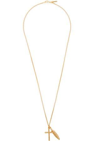EMANUELE BICOCCHI Men Necklaces - Feather & Cross Necklace