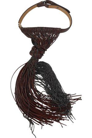 Brunello Cucinelli Leather long necklace