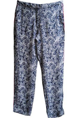 Sandro Silk straight pants