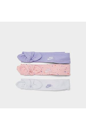 Nike Girls' Infant Headbands (3-Pack) in Pink/White/Purple/Arctic Punch Size 0-6 Month Cotton
