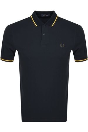 Fred Perry Men Polo Shirts - Twin Tipped Polo T Shirt Navy