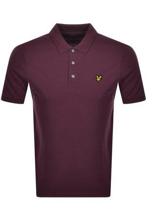 Lyle & Scott Men Short Sleeve - Short Sleeved Polo T Shirt Burgundy