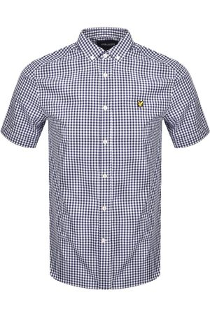 Lyle & Scott Short Sleeve Gingham Shirt Navy