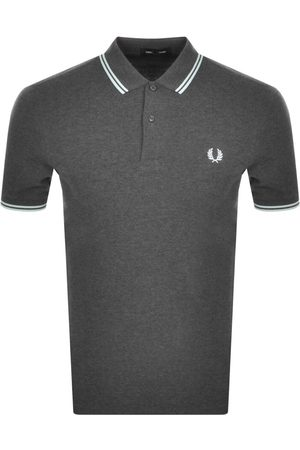 Fred Perry Men Polo Shirts - Twin Tipped Polo T Shirt Grey