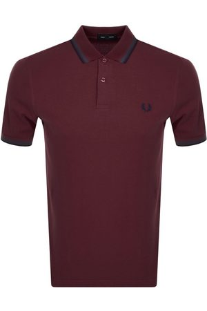 Fred Perry Twin Tipped Polo T Shirt Burgandy