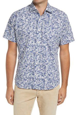 Peter Millar Men's Palm Print Short Sleeve Button-Up Shirt
