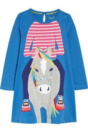 Boden Toddler Girl's Kids' Big Applique Long Sleeve Dress