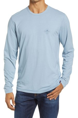 Faherty Men's All Day Long Sleeve Water Repellent Performance T-Shirt