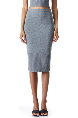 ALICE+OLIVIA Women's Leo Wool Blend Knit Pencil Skirt