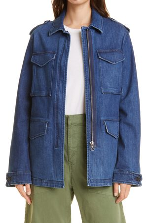 NILI LOTAN Women's Wren Distressed Denim Jacket