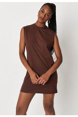 Missguided Chocolate Basic Tank Mini Dress