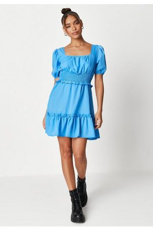 Missguided Women Party Dresses - Shirred Waist Tiered Mini Dress