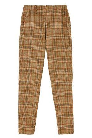 MOMONÍ Women Chinos - Merignac Trousers In Check Wool