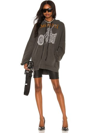 LAUREN MOSHI Desiree Hoodie Dress in Charcoal.