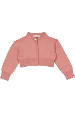 Dolce & Gabbana Cropped cotton knit cardigan