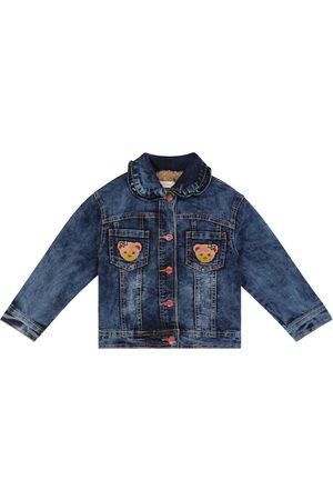 MONNALISA Faux fur-lined denim jacket