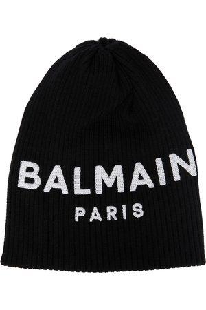 Balmain Logo beanie hat