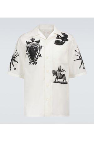 Alexander McQueen Short-sleeved printed shirt