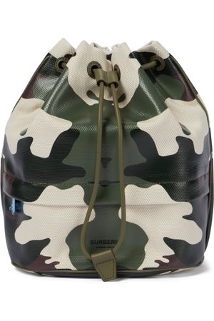 Burberry Phoebe camouflage drawstring pouch