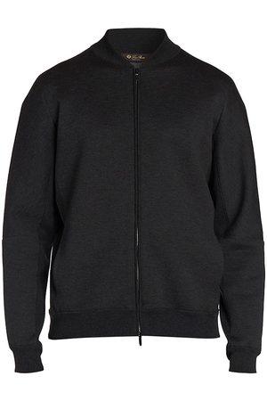 Loro Piana Belston Cotton Cashmere Fleece Bomber Jacket