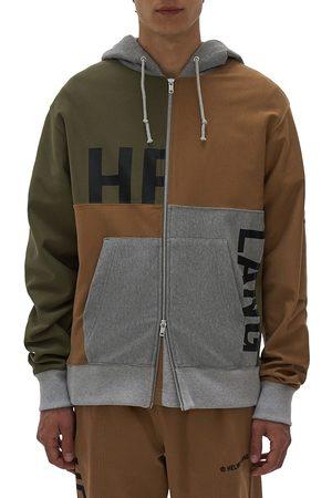 Helmut Lang Patchwork Zip-Up Hoodie Sweatshirt