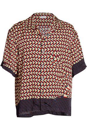 DRIES VAN NOTEN Cassi Short-Sleeve Button-Down Shirt