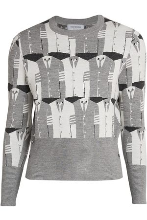 Thom Browne Jacquard-Knit Lana Merino Wool Sweater