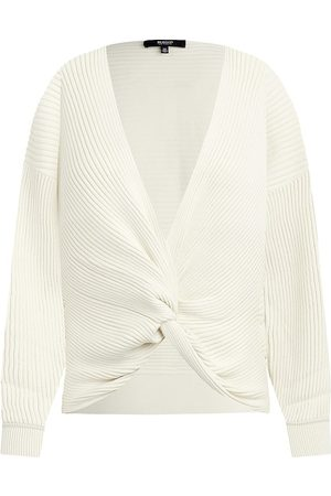 Hudson Knot-Front Pleated Sweater