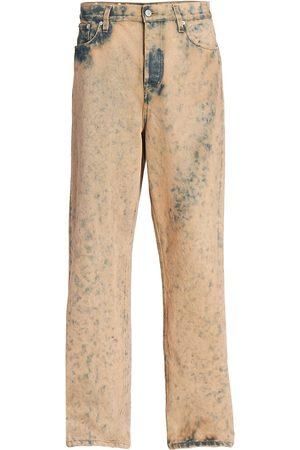 DRIES VAN NOTEN Pine Distressed Jeans