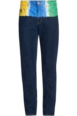 VERSACE Tie-Dye Corduroy & Denim Pants
