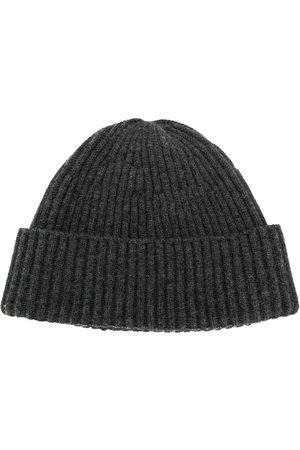 Brunello Cucinelli Men Hats - Ribbed knitted hat - Grey