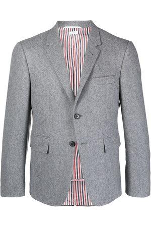 Thom Browne Men Blazers - RWB stripe tailored blazer - Grey