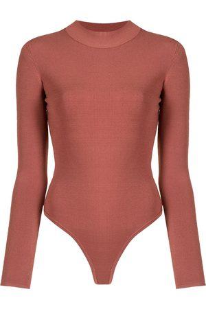DION LEE Open-back long-sleeved bodysuit