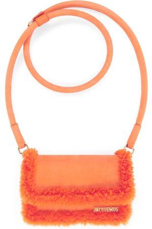 Jacquemus Women Purses - Rond Faux-shearling And Suede Handbag - Womens