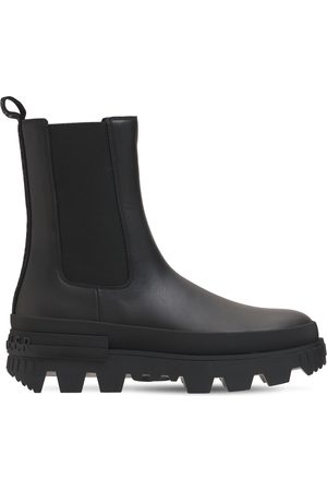 Moncler Women Chelsea Boots - 30mm Coralyne Leather Chelsea Boots