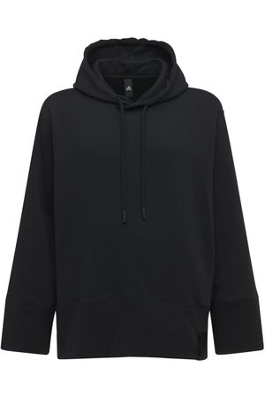 adidas Lounge Hooded Cotton Sweatshirt