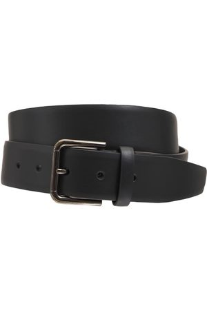 Dolce & Gabbana 3.5cm Leather Belt W/ Logo Plaque